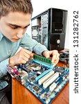 technician repairing computer... | Shutterstock . vector #131282762