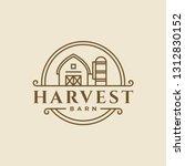 vintage classic monoline barn... | Shutterstock .eps vector #1312830152