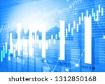 digital graph chart of stock... | Shutterstock . vector #1312850168