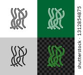 seaweed line style icon. sea...   Shutterstock .eps vector #1312854875