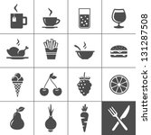 food and drink icon set. drinks ... | Shutterstock .eps vector #131287508