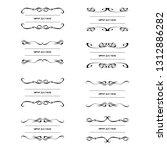 set of vector vintage frames... | Shutterstock .eps vector #1312886282