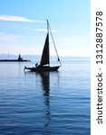 sailing boat in split port | Shutterstock . vector #1312887578