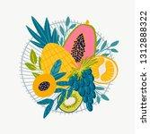 vector food set for your design.... | Shutterstock .eps vector #1312888322