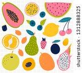 vector food set for your design.... | Shutterstock .eps vector #1312888325