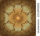 seamless classic golden pattern.... | Shutterstock .eps vector #1312890002