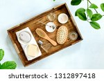 spa setting of various natural... | Shutterstock . vector #1312897418