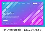 website landing page  gradient... | Shutterstock .eps vector #1312897658