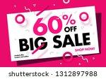 60  price discount sale... | Shutterstock .eps vector #1312897988