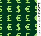 green background of currency.... | Shutterstock .eps vector #1312898072