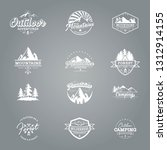 set of adventure and mountain... | Shutterstock .eps vector #1312914155