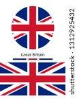 uk flag. great britain flag ... | Shutterstock .eps vector #1312925432