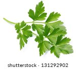 Parsley Leaves Isolated On A...