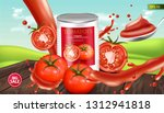 canned tomatoes vector... | Shutterstock .eps vector #1312941818