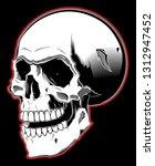 illustration of skull. design... | Shutterstock . vector #1312947452