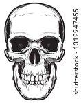 illustration of skull. design... | Shutterstock . vector #1312947455