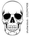 illustration of skull. design... | Shutterstock . vector #1312947458