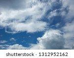 beautiful white clouds | Shutterstock . vector #1312952162