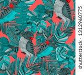 summer exotic seamless pattern. ... | Shutterstock . vector #1312960775
