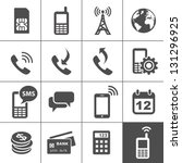 mobile account management icons.... | Shutterstock .eps vector #131296925