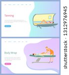 tanning and body wrap vector ... | Shutterstock .eps vector #1312976945