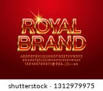 vector chic logotype royal... | Shutterstock .eps vector #1312979975