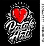 heart break lettering | Shutterstock . vector #1312998095