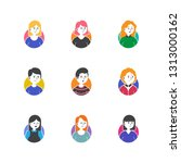 variety people man and woman...   Shutterstock .eps vector #1313000162