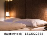 bed maid up with clean white... | Shutterstock . vector #1313022968