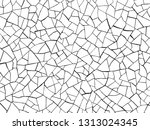 the cracks texture white and... | Shutterstock .eps vector #1313024345