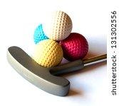 Mini Golf Stick With Colored...