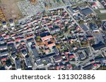 aerial view of pinczow town in... | Shutterstock . vector #131302886