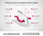 simple infographic for 6... | Shutterstock .eps vector #1313032508