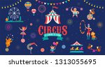 Circus Banner And Background...