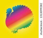turkey flat vector | Shutterstock .eps vector #1313099282