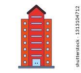 urban residence building symbol | Shutterstock .eps vector #1313104712