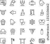 thin line icon set   left arrow ... | Shutterstock .eps vector #1313106662