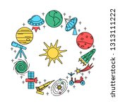 space elements round concept... | Shutterstock .eps vector #1313111222