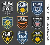 set of police law enforcement... | Shutterstock .eps vector #131312288