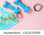 fitness concept. sport... | Shutterstock . vector #1313129585