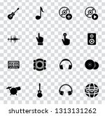 vector sound music icons set  ... | Shutterstock .eps vector #1313131262