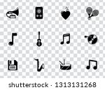 vector sound music icons set  ... | Shutterstock .eps vector #1313131268