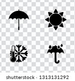 vector weather icons set....