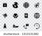 vector delivery  shipping ... | Shutterstock .eps vector #1313131382