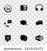 vector telephone  smart phone... | Shutterstock .eps vector #1313131472