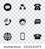 vector telephone  smart phone... | Shutterstock .eps vector #1313131475
