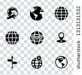 vector map  navigation  road... | Shutterstock .eps vector #1313131532