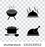 vector food cooking icons set.... | Shutterstock .eps vector #1313133512