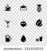 vector beverage drink icons set.... | Shutterstock .eps vector #1313133515