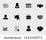 vector management icons set  ... | Shutterstock .eps vector #1313133572